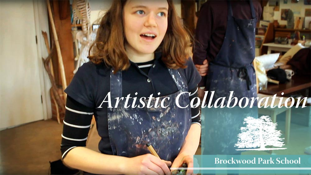Video Overlay – Artistic collaboration in the art barn at Brockwood Park School