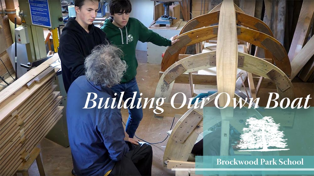 Video Overlay – Building our own boat at Brockwood Park School