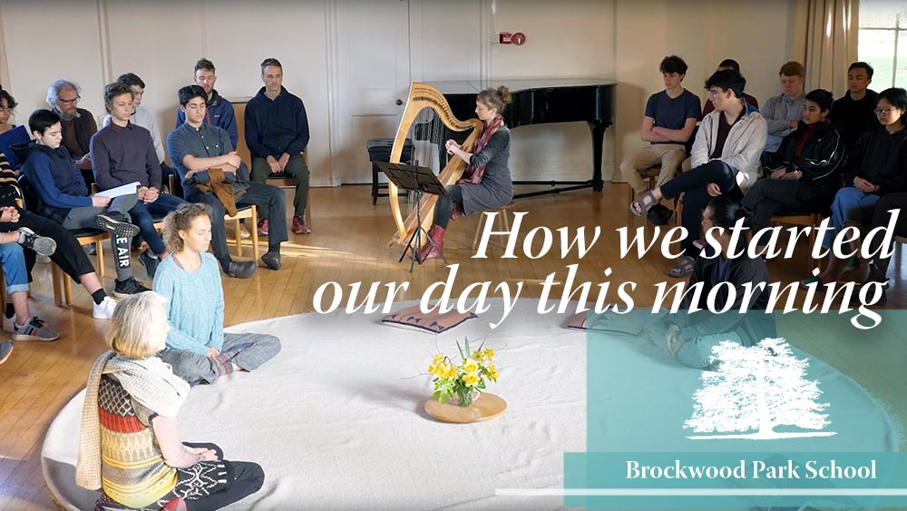 Video Overlay – How we started our day this morning at Brockwood Park School
