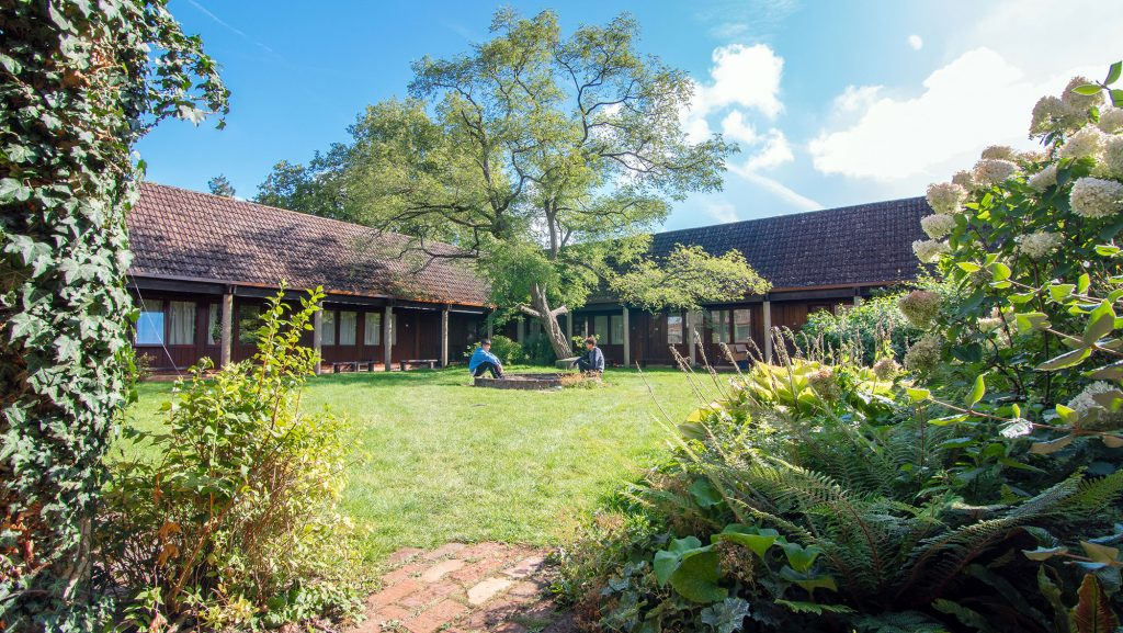 Accommodation: the cloisters at Brockwood Park School