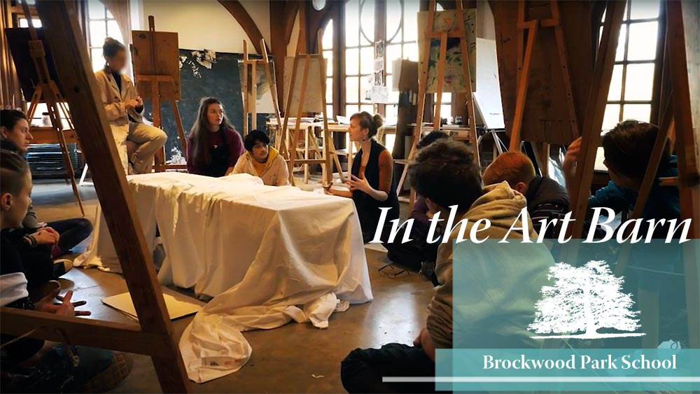 Video Overlay – In the art barn at Brockwood Park School