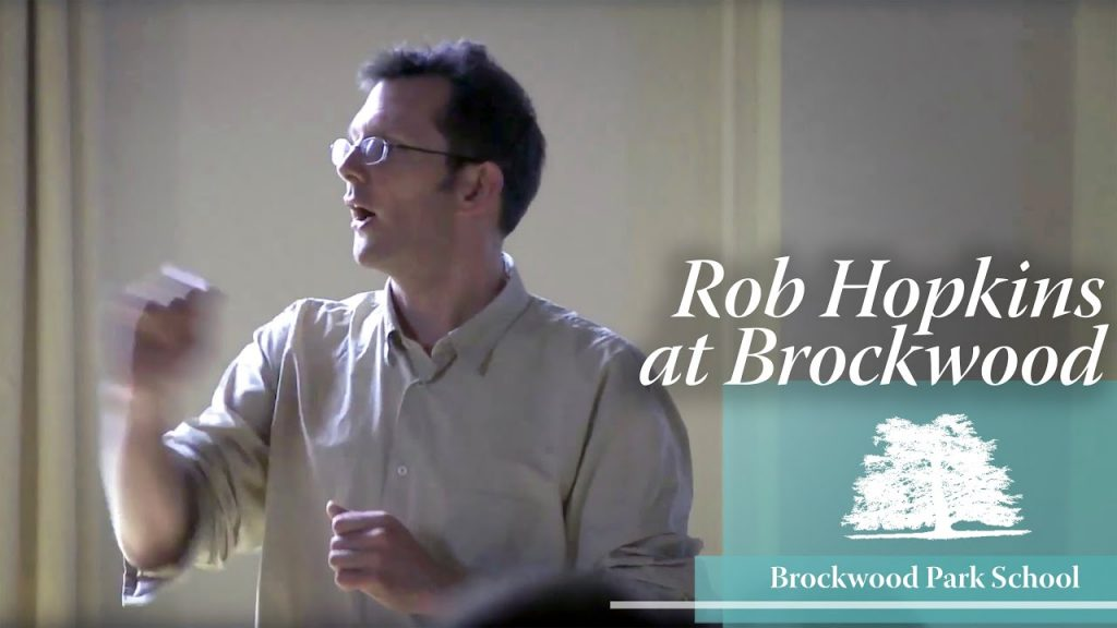 Video Overlay – Rob Hopkins at Brockwood Park School