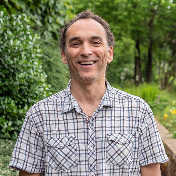 Portrait photo of Julien Mardelet, IT Coordinator at Brockwood Park School