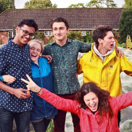 Brockwood Park School - Relationship - Students having fun in the garden