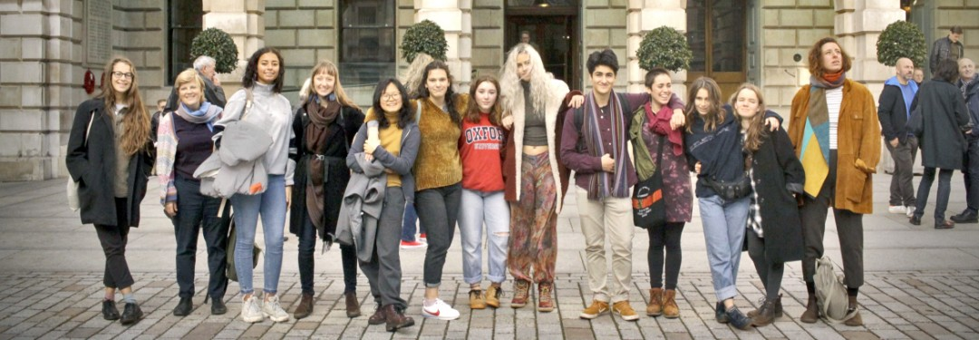 A group of Brockwood Park School visiting London