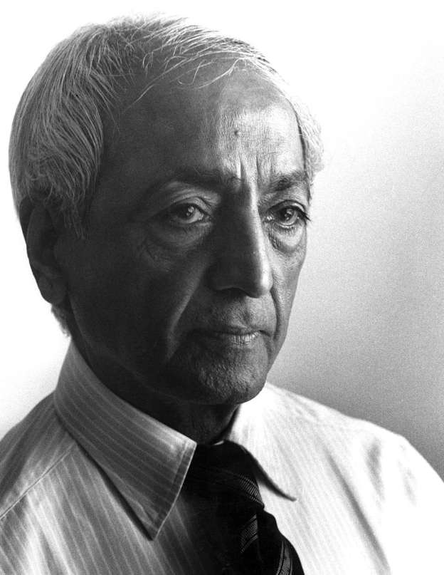 Portrait of Jiddu Krishnamurti, founder of Brockwood Park School
