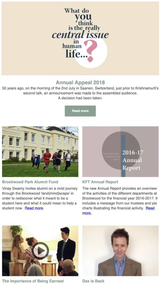 Brockwood Park News – Spring 2018