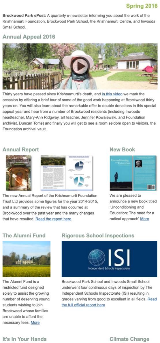 Brockwood Park News – Spring 2016