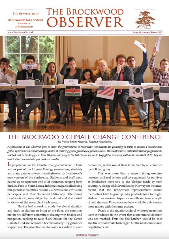 The Brockwood Park School Observer – 2015 AW