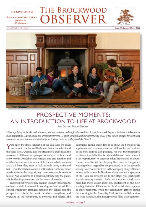 The Brockwood Park School Observer – 2012 AW