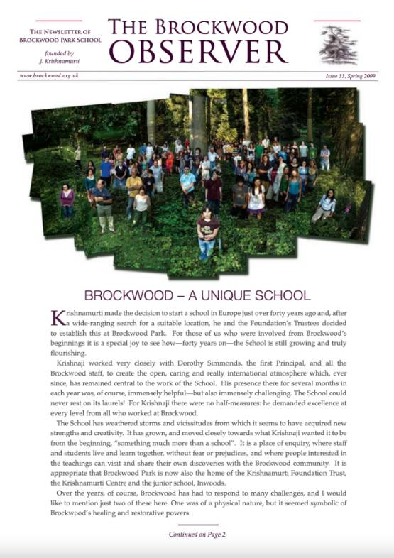 The Brockwood Park School Observer – 2009 SS